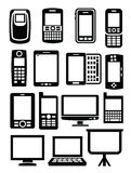 Gadgets with screen Stock Image