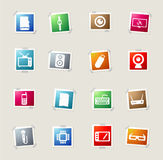 Gadgets simply icons Stock Images