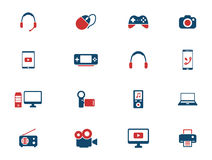 Gadgets simply icons Stock Photos