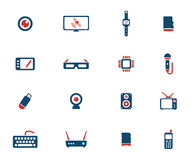 Gadgets simply icons Royalty Free Stock Photography