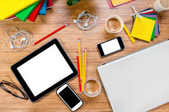 Gadgets on the table Stock Photography