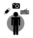 Gadgets technology design Royalty Free Stock Photography