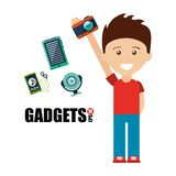 Gadgets technology design Royalty Free Stock Image