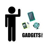 Gadgets technology design Stock Image