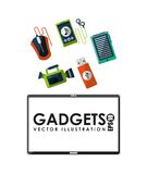 Gadgets technology design Stock Photos