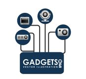 Gadgets technology design Stock Photography