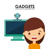 Gadgets technology design Royalty Free Stock Images