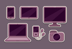 Gadgets vector icons set Stock Photo