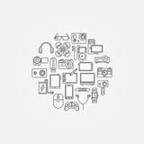 Gadgets vector illustraion Stock Image