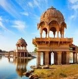 Gadi Sagar (Gadisar), Jaisalmer,拉贾斯坦,印度,亚洲 免版税库存图片