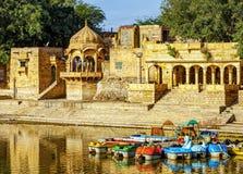 Gadi Sagar Gadisar, Jaisalmer, Раджастхан, Индия, Азия стоковое фото