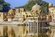 Gadi Sagar Gadisar, Jaisalmer, Ràjasthàn, Inde, Asie Image stock