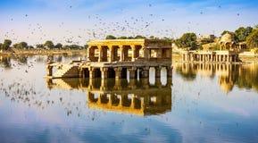 Gadi Sagar Gadisar, Jaisalmer, Rajasthan, India, Asia. Gadi Sagar Gadisar Lake is one of the most important tourist attractions in Jaisalmer, Rajasthan, North royalty free stock images