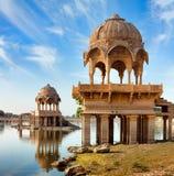 Gadi Sagar (Gadisar), Jaisalmer, Rajasthan, India, Azië Stock Fotografie