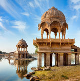 Gadi Sagar (Gadisar), Jaisalmer, Rajasthan, Indien, Asien Arkivbild
