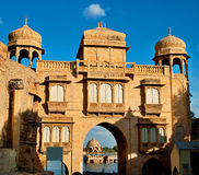 Gadi Sagar (Gadisar) Lake in Jaisalmer, Rajasthan, North India. Stock Photo
