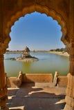 gadisar湖 Jaisalmer 拉贾斯坦 印度 库存照片