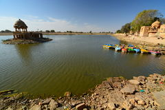 gadisar jeziora Jaisalmer Rajasthan indu obraz stock