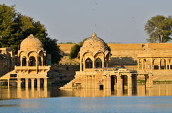 Gadisar lake Royalty Free Stock Photos