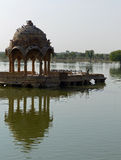 Gadsisar Tank, Jaisalmer. A man-made lake in Jaisalmer, once the setting for cremations and still surrounded by ghats and small temples Stock Photography