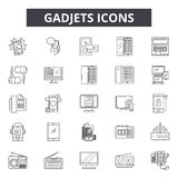 Gadjets line icons for web and mobile design. Editable stroke signs. Gadjets  outline concept illustrations stock illustration