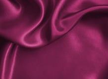 Gładka elegancka różowa jedwabiu lub atłasu tekstura jako tło Zdjęcia Royalty Free