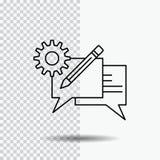 gadka, komunikacja, dyskusja, położenie, wiadomości linii ikona na Przejrzystym tle Czarna ikona wektoru ilustracja ilustracja wektor