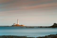 gładka latarni morskiej woda Fotografia Royalty Free