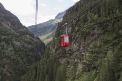Gadmen cable car, Switzerland Royalty Free Stock Images