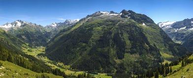 Gadmental, summer panorama - Switzerland Stock Image