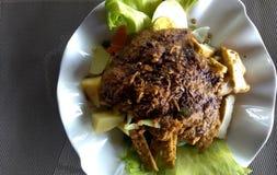 Gado-gado, пряный гарнир который популярное в Индонезии Стоковые Фото