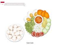 Gado Gado or Indonesian Salad with Peanut Dressing Stock Image