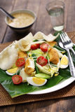 Gado gado, indonesian salad with peanut sauce Royalty Free Stock Photos