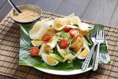 Gado gado, indonesian salad with peanut sauce Royalty Free Stock Photo