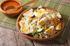 Gado Gado Indonesian vegetable salad close-up. horizontal Stock Image