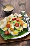 Gado gado, indonezyjska sałatka z arachidowym kumberlandem Zdjęcia Royalty Free