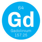 Gadolinium chemical element Stock Images