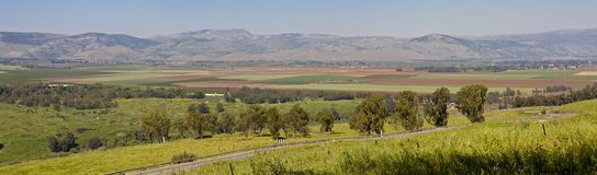 Gadot Lookout. Hula valley as seen from Gadot lookout - Israel Royalty Free Stock Images