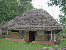 Gadsbaa农业学家议院,部族小屋 库存照片