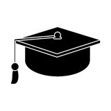 Gaduation cap education symbol pictogram Royalty Free Stock Images