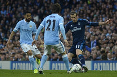 Gael Clichy and Gareth Bale Royalty Free Stock Photography