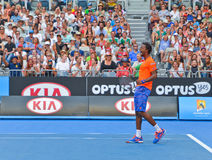 Gael Monfils playing in the Australian Open Stock Photo