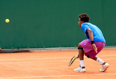 Gael Monfils at Roland Garros 2011 Royalty Free Stock Images