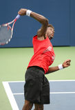 Gael Monfils Serving at the 2008 US Open Royalty Free Stock Photo