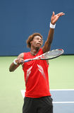 Gael Monfils Serving at the 2008 US Open Stock Photo