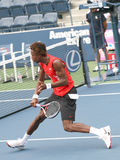 Gael Monfils Volleying at the 2008 US Open Stock Image