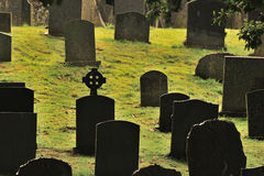 Gaelic cross graveyard, stock photo