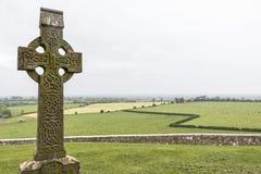 Gaelic cross - Rock of Cashel, Ireland Royalty Free Stock Photo