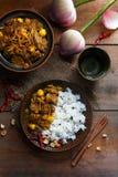 Gaeng Hang Lay Thai Curry Thais voedsel - beweeg gebraden gerecht #6 stock afbeeldingen