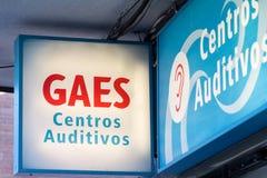 Gaesembleem op Gaes-winkel stock fotografie